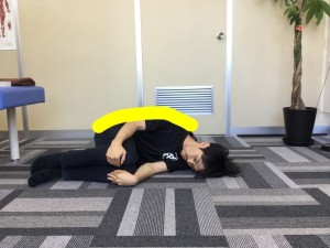 大腿四頭筋寝1黄色